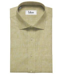 Linen Club Men's Linen 60 LEA Self Design Unstitched Shirting Fabric (Shortbread Beige)