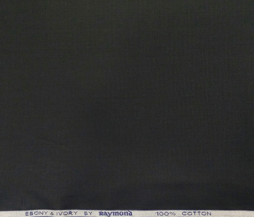 Raymond Men's Cotton Solid 3.50 Meter Unstitched Shirting Fabric (Black)