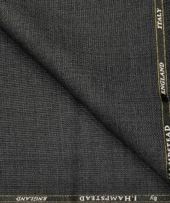 J.Hampstead Men's Wool Structured  Super 100's Unstitched Trouser Fabric (Dark Grey