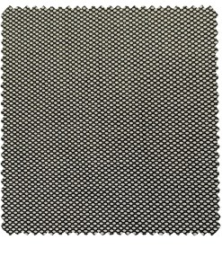 Cadini Men's Wool Structured Super 100's Unstitched Suiting Fabric (White & Black)