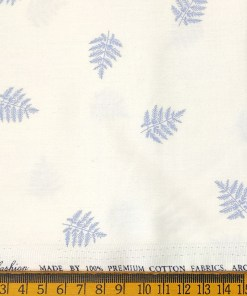 Solino Men's Cotton Printed 2.25 Meter Unstitched Shirting Fabric (White & Sky Blue)