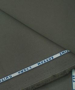 Raymond Men's Cotton Solids  Unstitched Trouser Fabric (Greenish Grey)