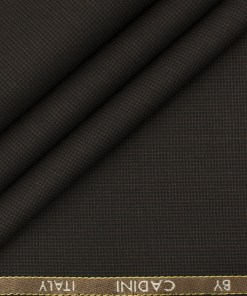 Cadini Men's Polyester Viscose Structured 3.75 Meter Unstitched Suiting Fabric (Mocha Brown)