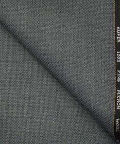 J.Hampstead Men's Wool Structured Super 120's 1.30 Meter Unstitched Trouser Fabric (Grey )
