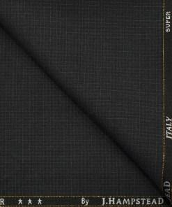 J.Hampstead Men's Wool Self Design Super 120's 1.30 Meter Unstitched Trouser Fabric (Dark Grey)