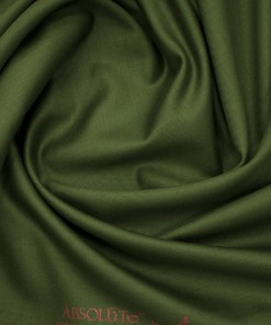Absoluto Men's Terry Rayon Solids 3.75 Meter Unstitched Suiting Fabric (Moss Green)