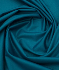 EMEF Men's Terry Rayon Solids 3.75 Meter Unstitched Suiting Fabric (Caribbean Blue)