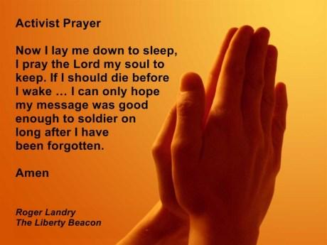 Activist Prayer