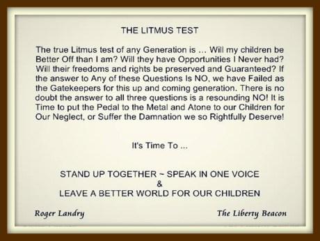 The Litmus test