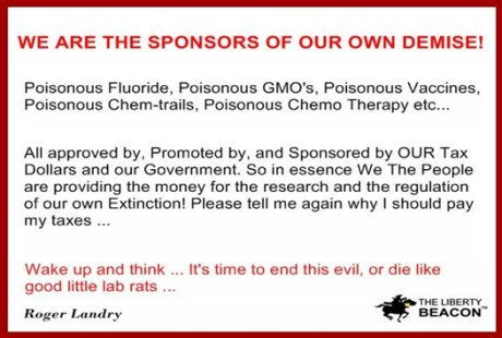 Sponsors of our own demise