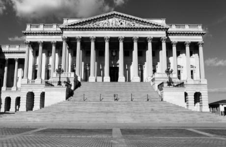 WASHINGTON - APRIL 11:  The U.S. Senate building, adjacent to the U. S. Capitol Building on April 11, 2015 in Washington, D.C.  (Photo By Raymond Boyd/Getty Images)