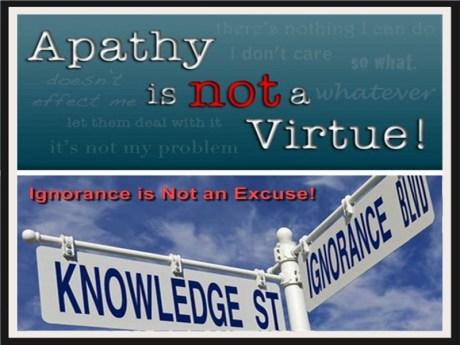 Apathy & Ignorance 1