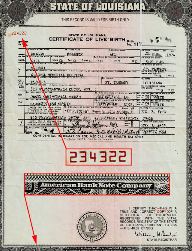 BIRTH CERTIFICATE---COLLATERAL-TLB-PHOTO