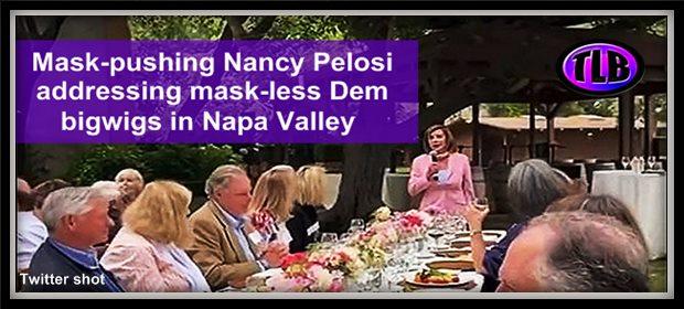 Pelosi nomask FundRaise NYPost feat 8 24 21