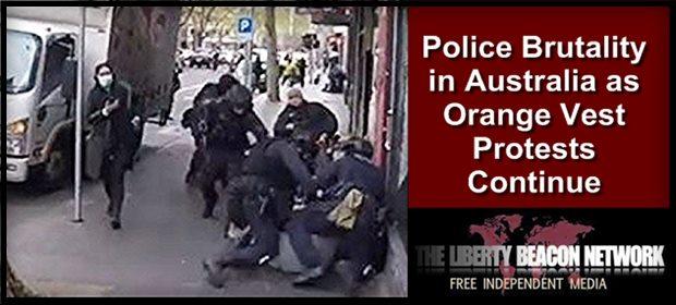 Australia Police brutal Vax SN feat 9 24 21