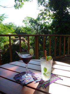 Refreshments at Blancaneaux