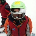 Roc Dillman after wipe out in Beaver Creek Ski School