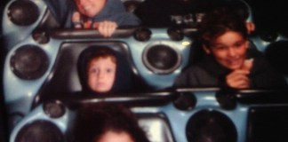 kid on a rollercoaster