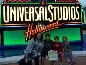 laurie Mcdermott and family at universal studios