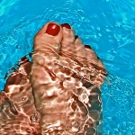 feet at pool