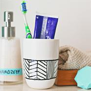 DIY: tandenborstelbeker met print