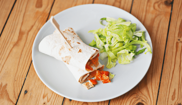 Recept- sweet & spicy chicken wraps