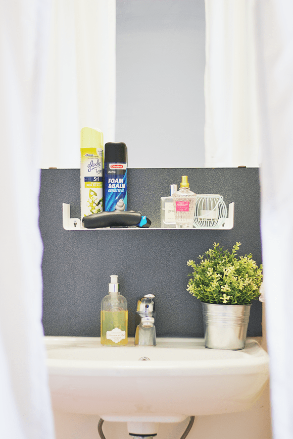 Kleine badkamer tip: wandrekje