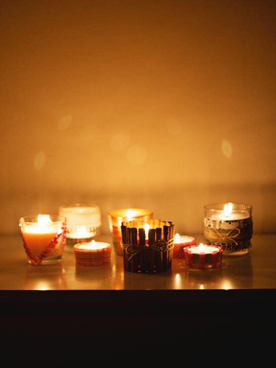 DIY 6x kaarsen(houders)