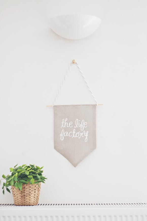 DIY: banner van stof (zonder naaien!)