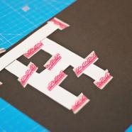 DIY letterslinger van papier