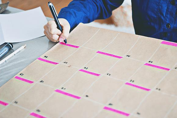 DIY: grote maandkalender