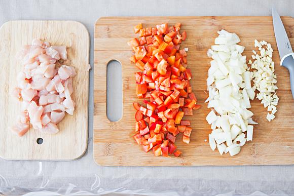 Recept: sperzieboontjes met paprika en kip