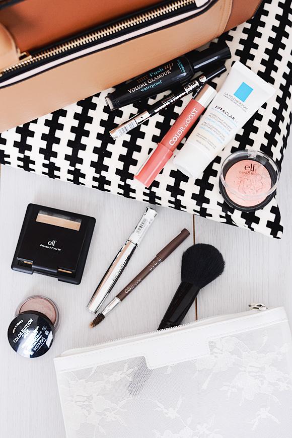 Mijn school/werk make-uptasje + look