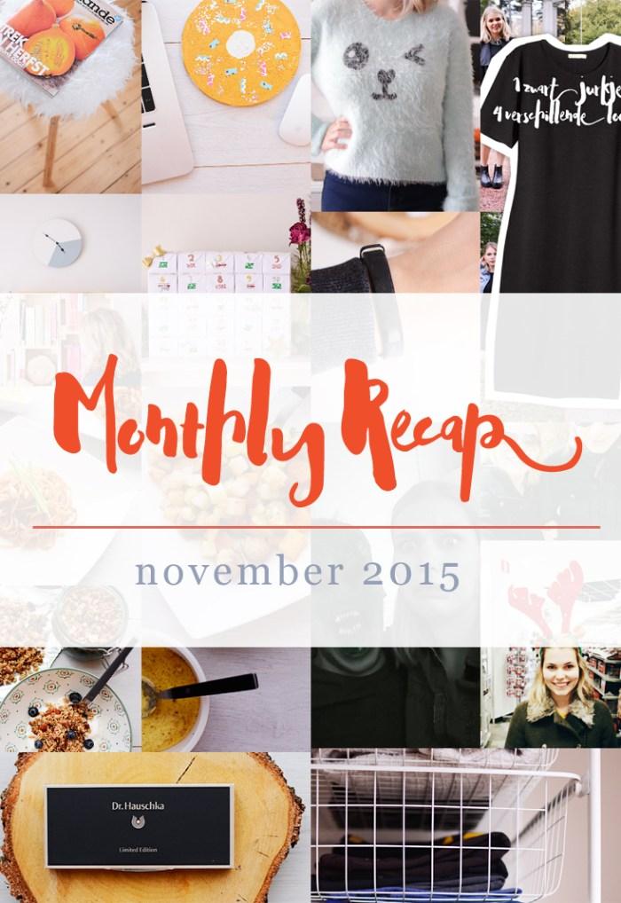 Monthly Recap - November 2015