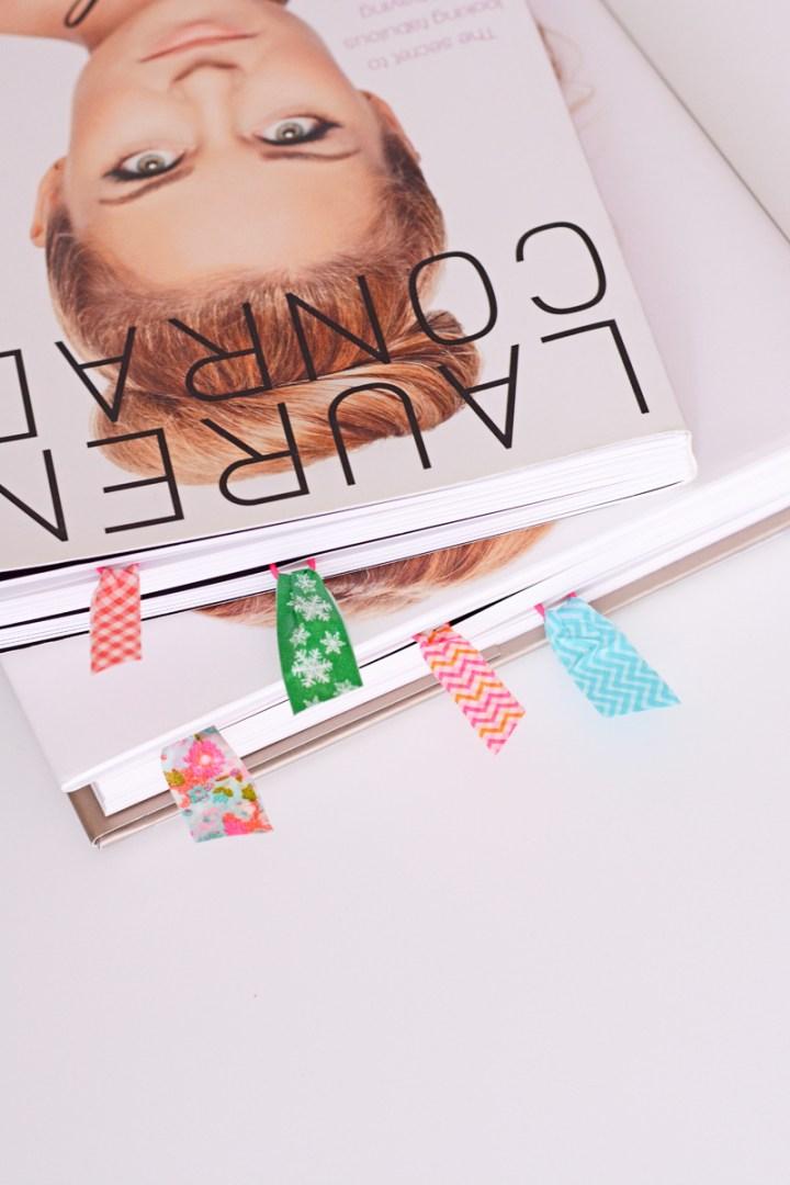 Schattige tip: paperclips met washitape