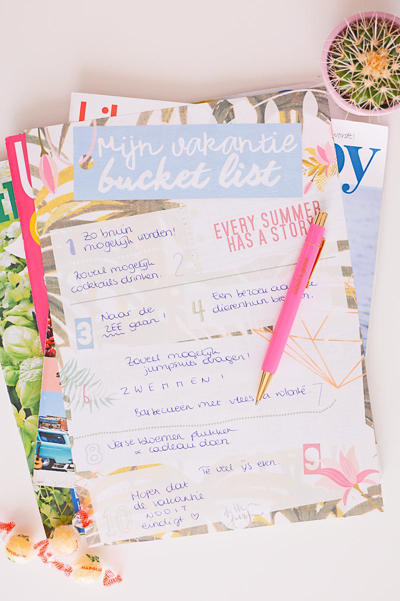 Mijn vakantie bucket list