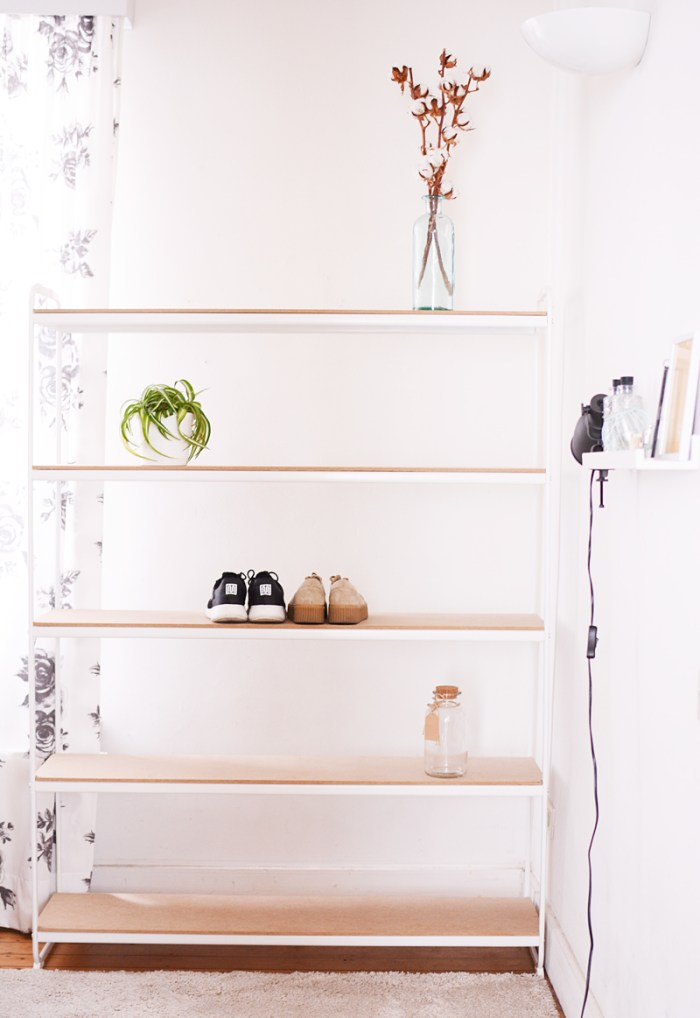 Tip: metalen rek make-over met MDF