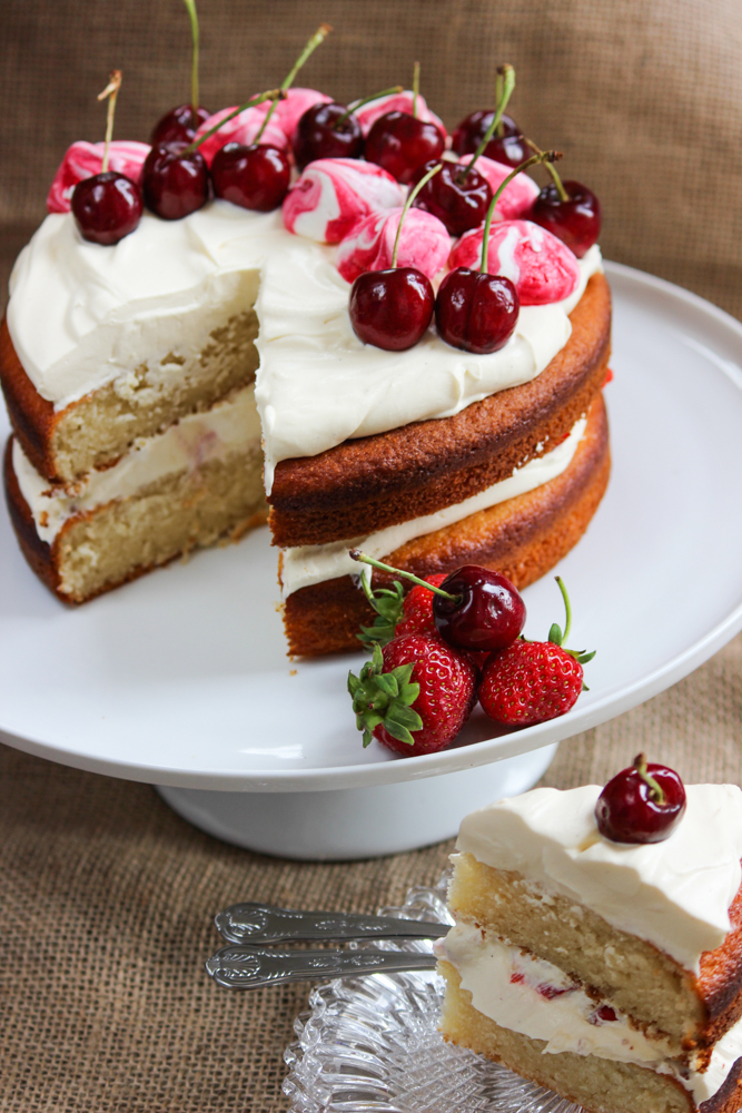 Wimbledon Strawberries Cream Cake