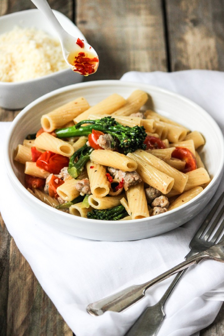 Rigatoni with italian sausage and broccolini pasta rigatoni pasta italian cooking italian pasta italian sausage pasta healthy forumfinder Image collections