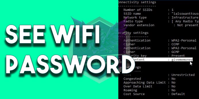 How To See WiFi Password In Windows 10 View Saved WiFi Password