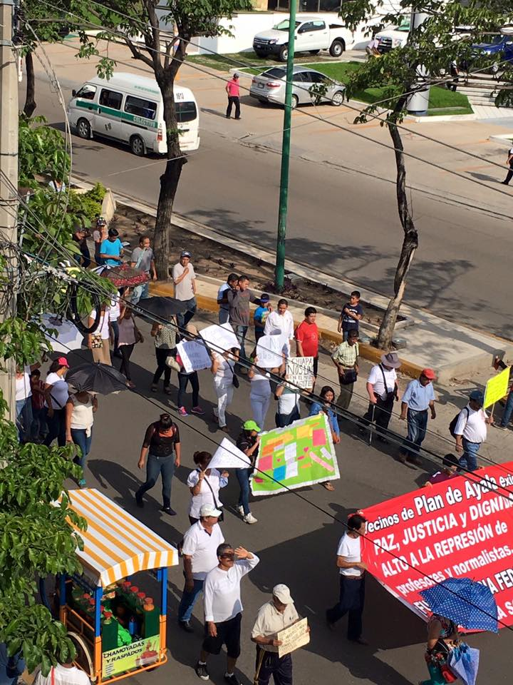 Protest in Tuxtla