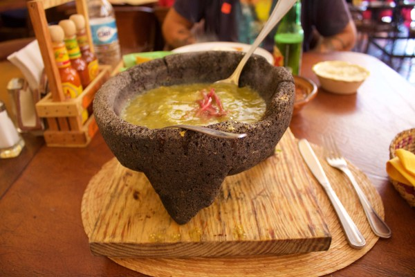 Fried cheese molcajete, one of Mexico's finest foods.