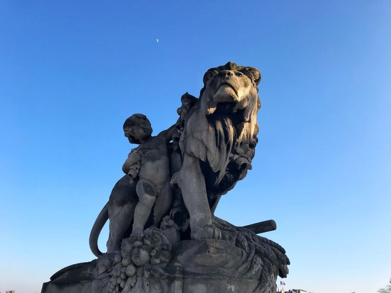 Paris Lion Statue