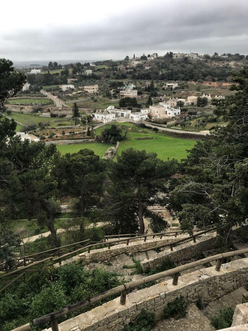 Cliffside steps in Locorotondo