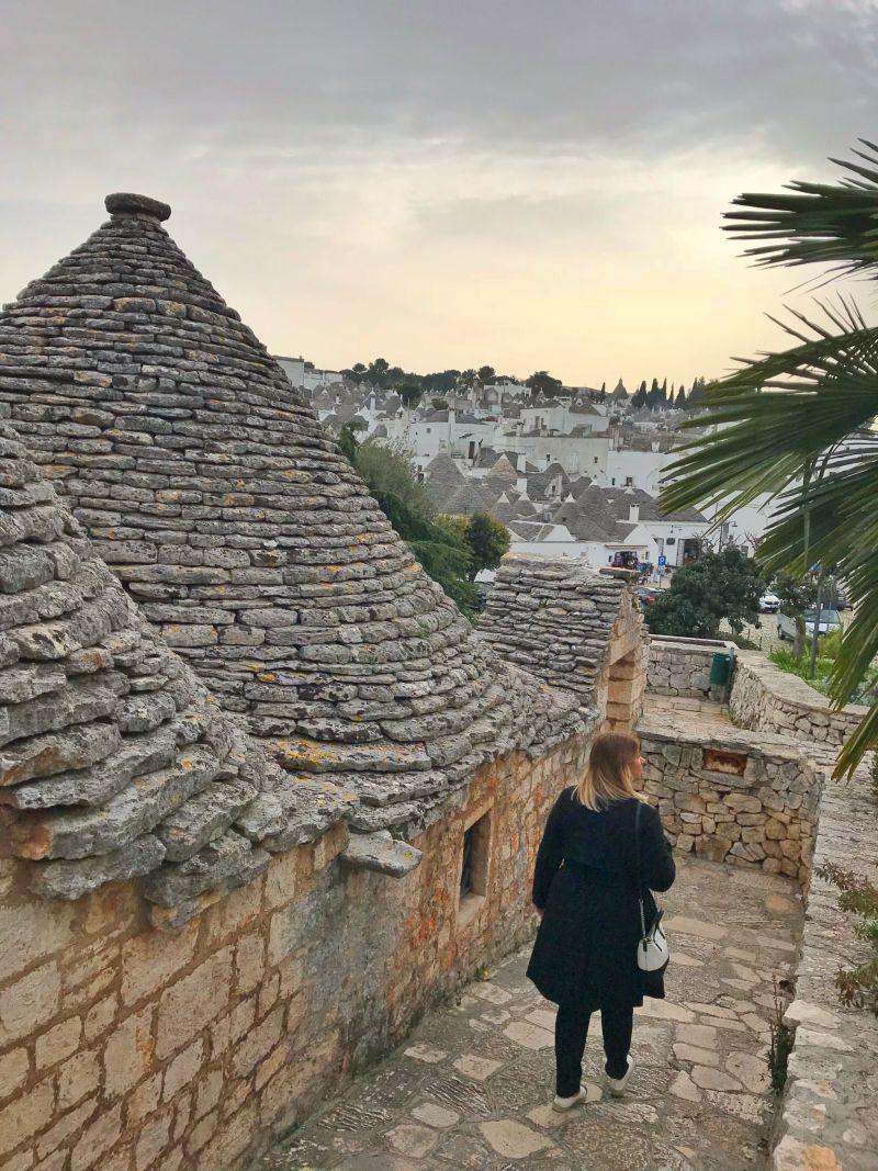 Exploring stone walkways and Trullo houses in Alberobello