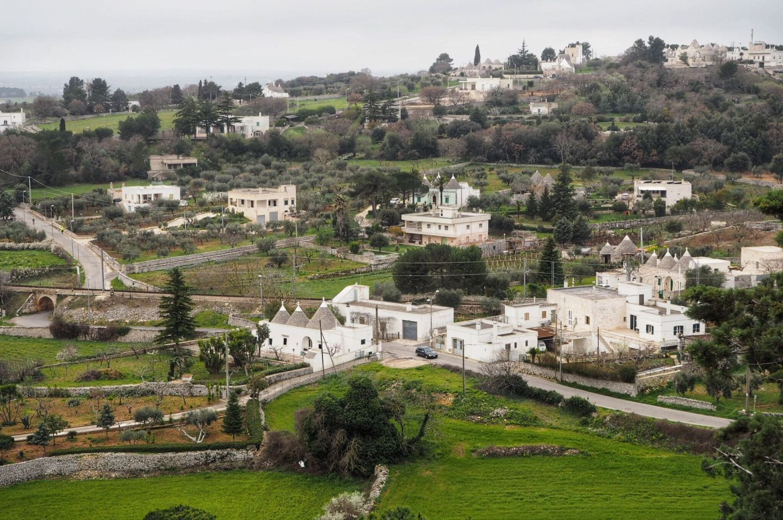 Hillside views of Locorotondo