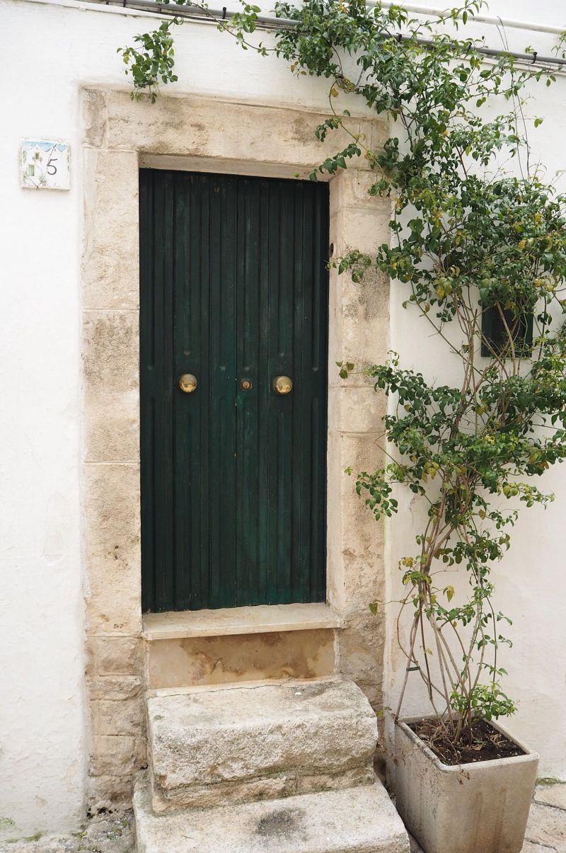 Locorotondo doorway pretty Italian town
