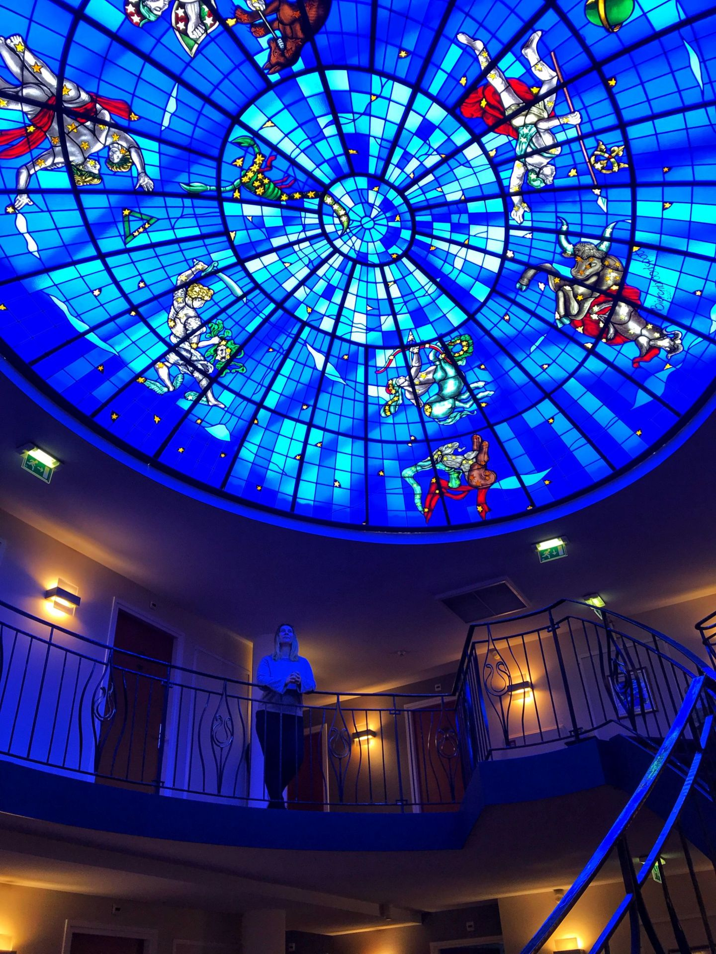 Mesmerised by Beautiful glass ceiling Amrath Grand Hotel Frans Hals