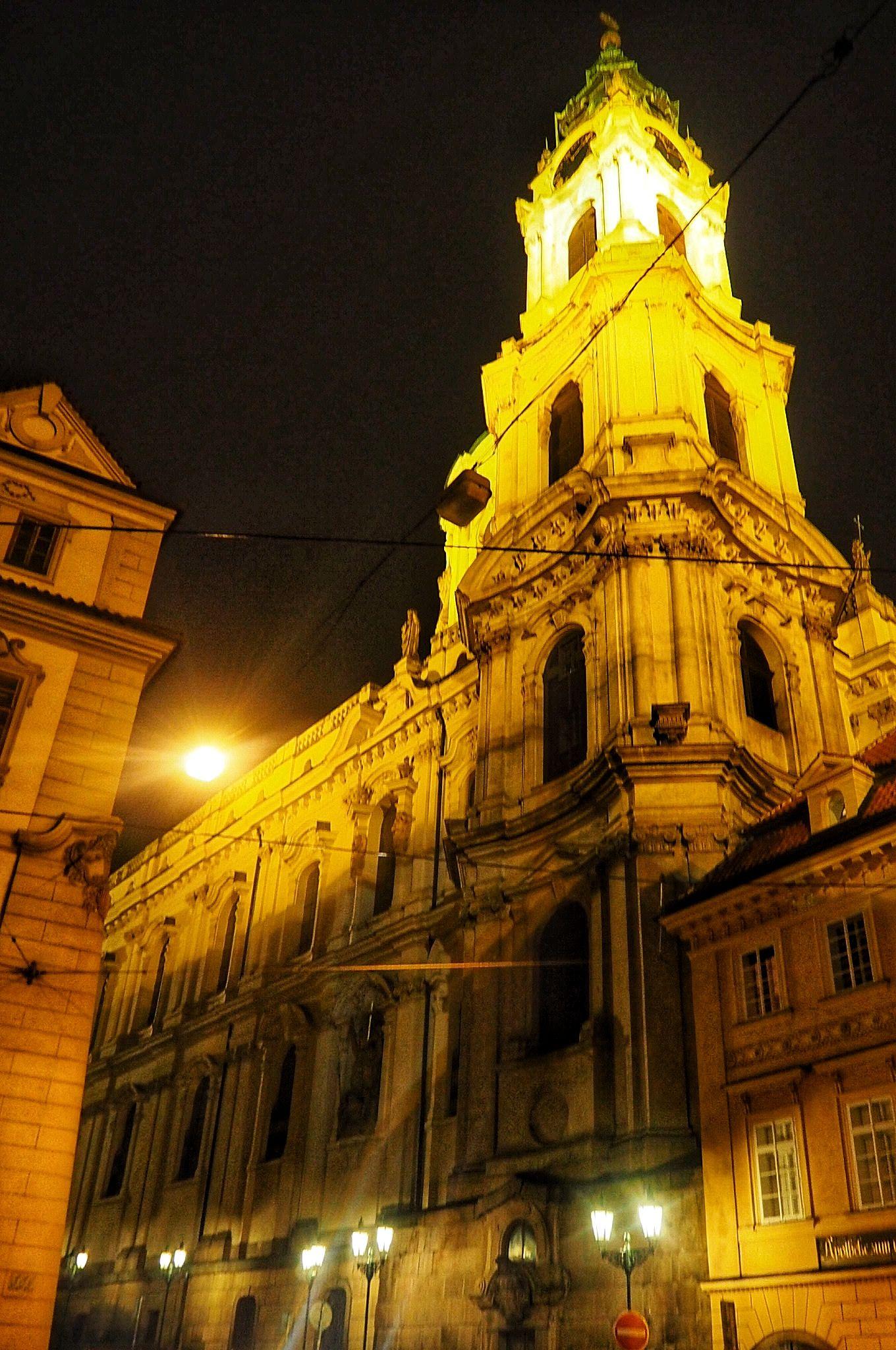 Architecture of Ostuni at Night