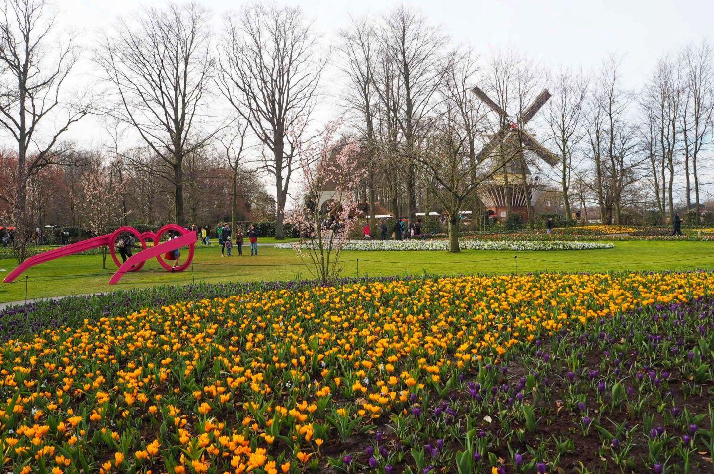 Park view of Keukenhof Tulip Gardens